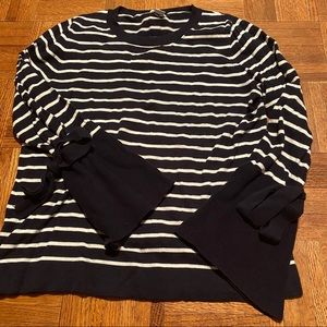 J. Crew striped sweater with bell sleeves